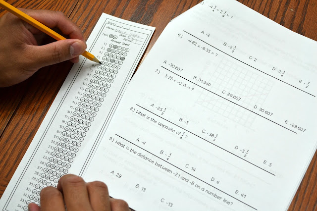 Includes two versions of the final, practice test, and student answer sheets.