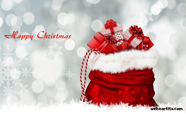 greeting card of merry christmas