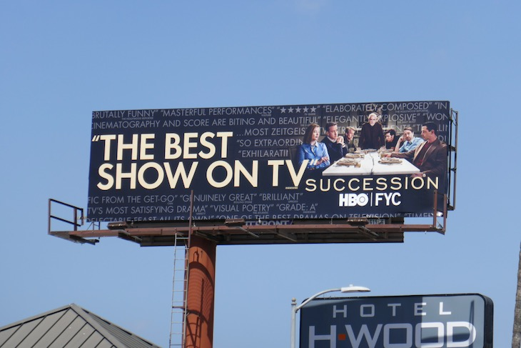 Succession season 2 Emmy FYC billboard