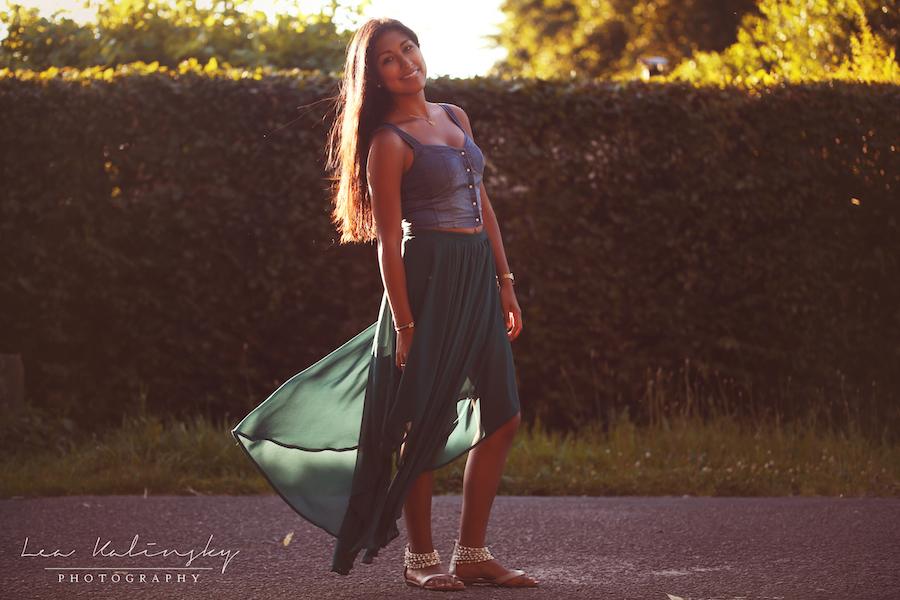 schönes Kleid im Sommer