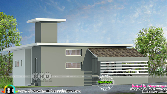 Rendering of unusual looking contemporary home