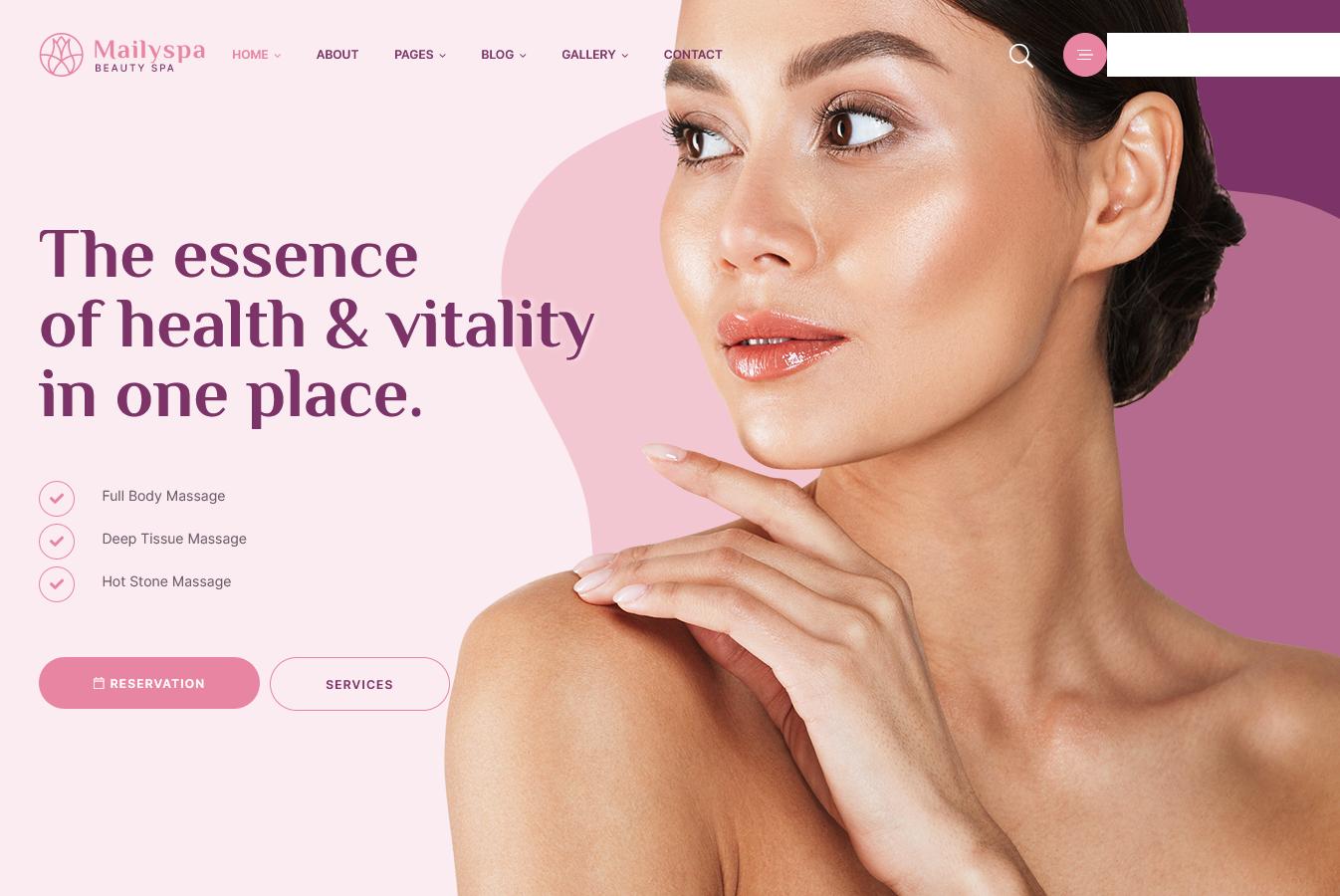 Mailyspa - Beauty & Wellness WordPress Premium Theme