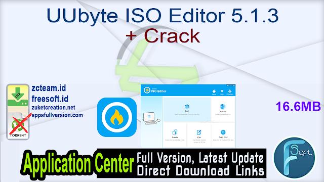 UUbyte ISO Editor 5.1.3 + Crack