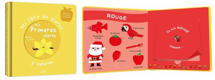cuentos infantiles 0 a 3 años edad regalar navidad Mi libro olores colores