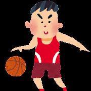 オリンピックのイラスト「バスケットボール」