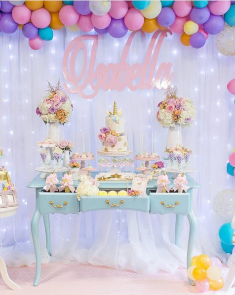 101 fiestas 10 ideas para un baby shower de unicornio for Decoracion para pared unicornio