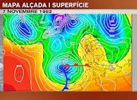 Situación meteorológica 7/11/1982