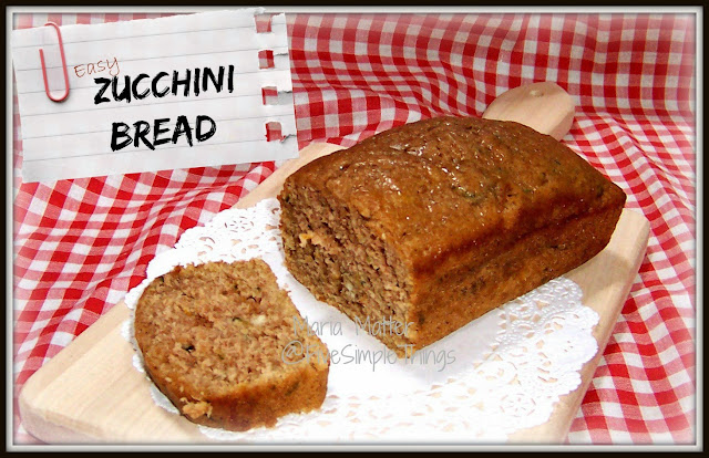 Zucchini bread recipe, easy to make