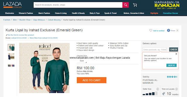 Baju Melayu Dengan Lazada