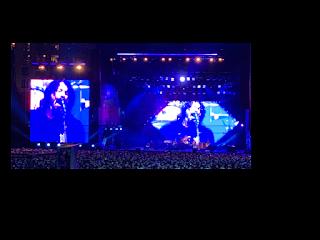 Foo Fighters performing at Cisco Live 2019 Customer appreciation event