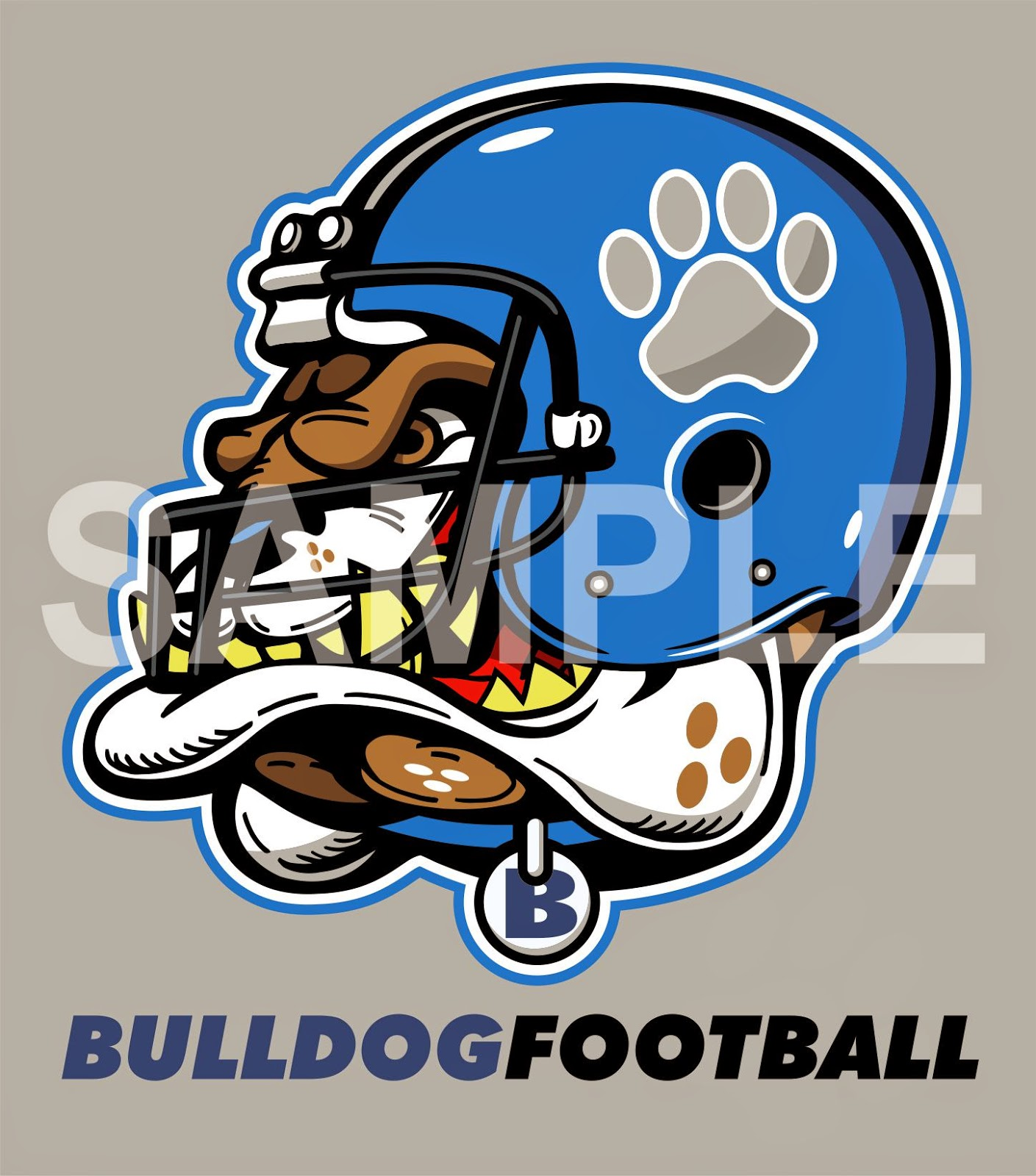 EARLFERGUSONstudio: BULLDOG FOOTBALL MASCOT CLIP ART