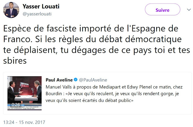 Yasser Louati, militant d'extrême droite et ex porte-parole du CCIF