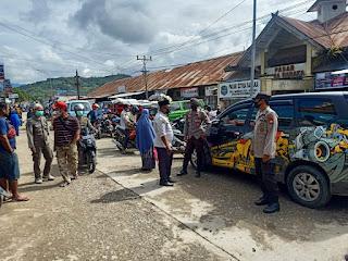 Gabungan TNI-POLRI, Satpol PP Dan Dishub, Laksanakan Penegakan Protokol Kesehatan Di Pasar Citra Baraka