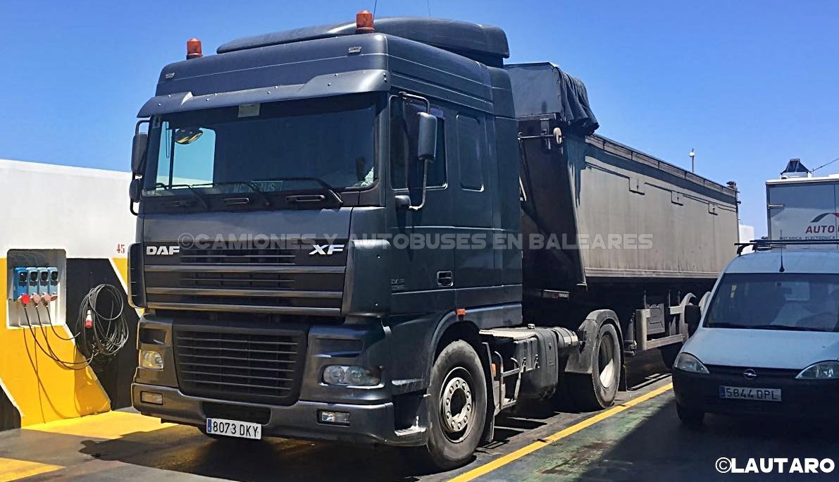 Camiones y autobuses en baleares daf xf - Transporte islas baleares ...