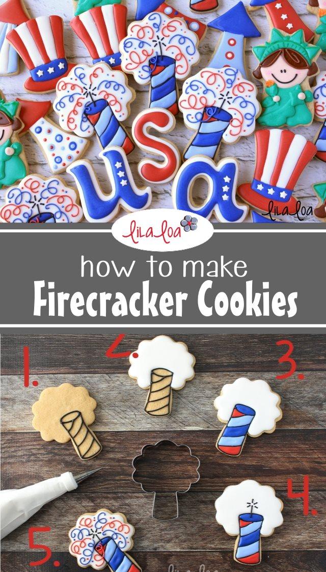 Patriotic decorated sugar cookie tutorial