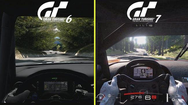 Comparison in GT 6 vs GT 7 in Gameplay