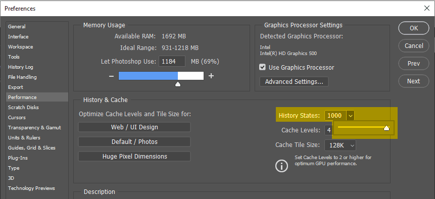Menambah atau mengurangi jumlah Undo di Photoshop