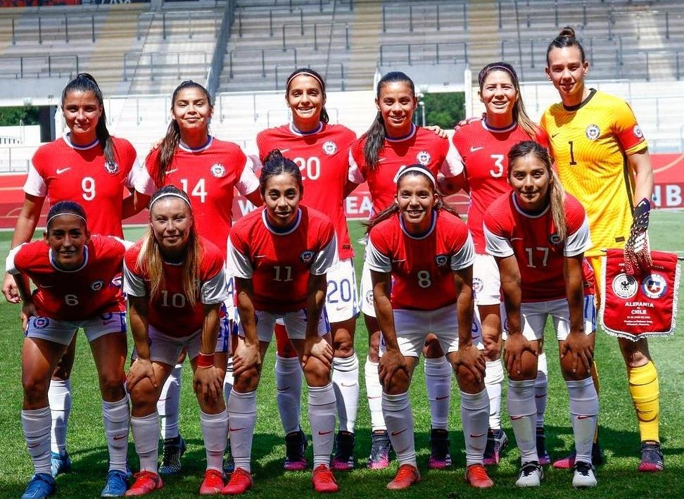 Formación de selección femenina de Chile ante Alemania , amistoso disputado el 15 de junio de 2021