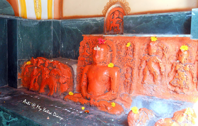 The Navgraha deities at the Bhairavnath temple, Saswad, Pune, Maharashtra