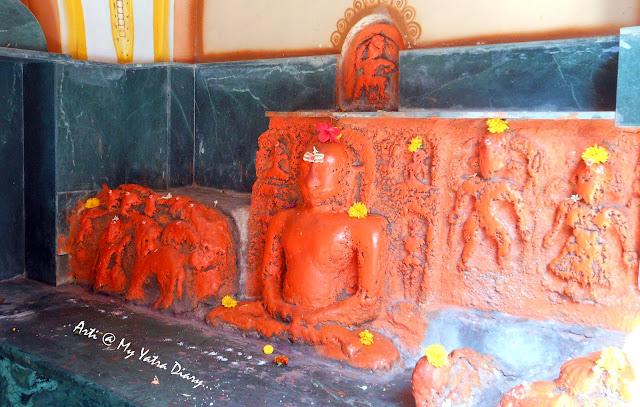 The Navgraha deities at the Bhairavnath temple, Saswad, Pune, Maharashtra