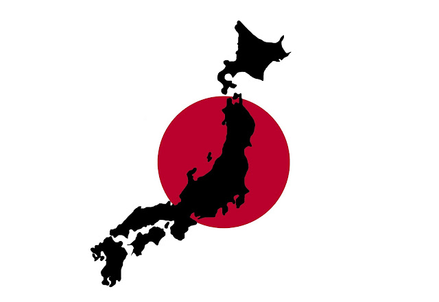 map and flag of japan hd
