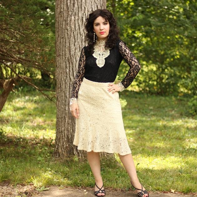 Noracora Black Lace Blouse