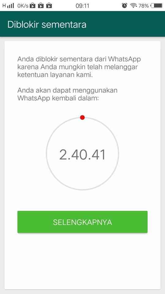 Diblokir wechat yang membuka sementara akun Banyak account