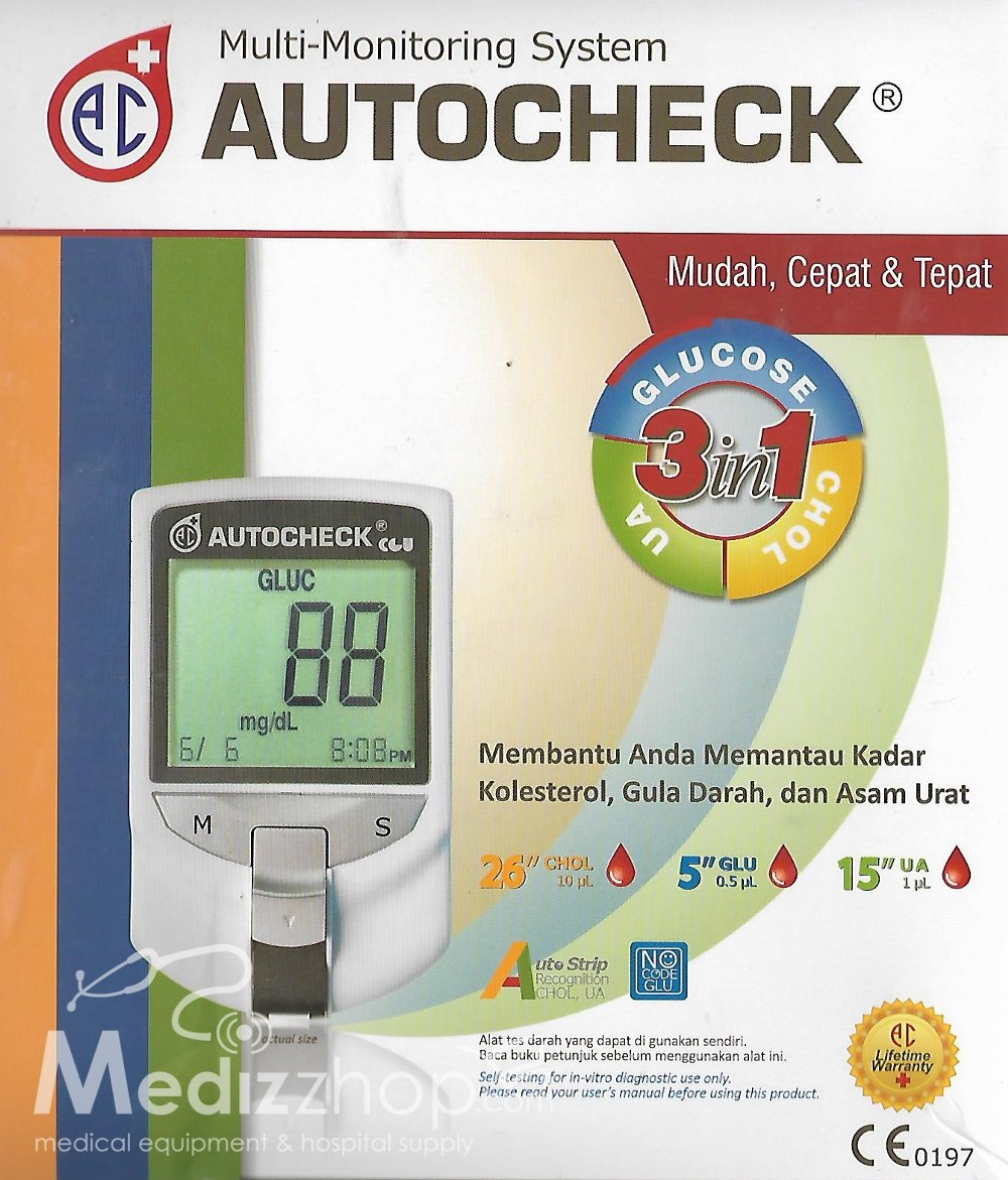 Juli 2018 Mahakarya Alkes Autocheck Paket Strip Kolestrol Gula Asam Urat Kolesterol Darah Multi Monitoring System