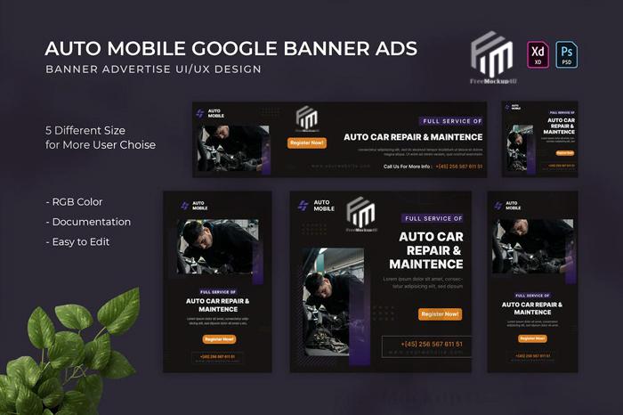 Auto Mobile Google Ads Elements