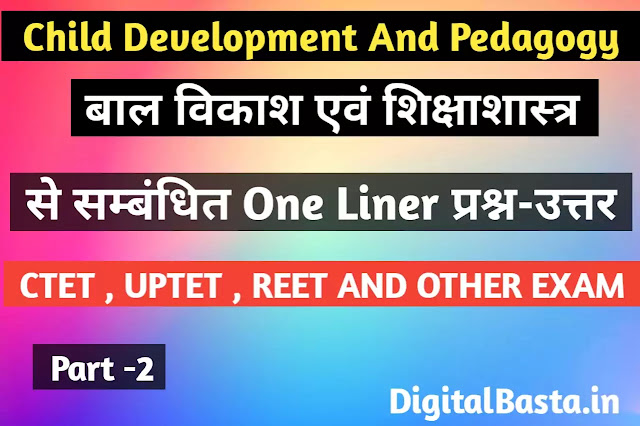 Child Development And Pedagogy In Hindi