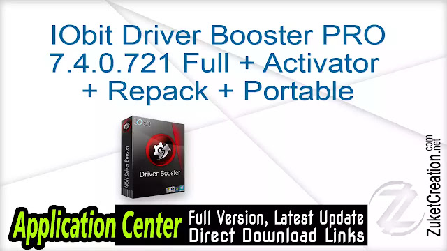 IObit Driver Booster PRO 7.4.0.721 Full + Activator + Repack + Portable