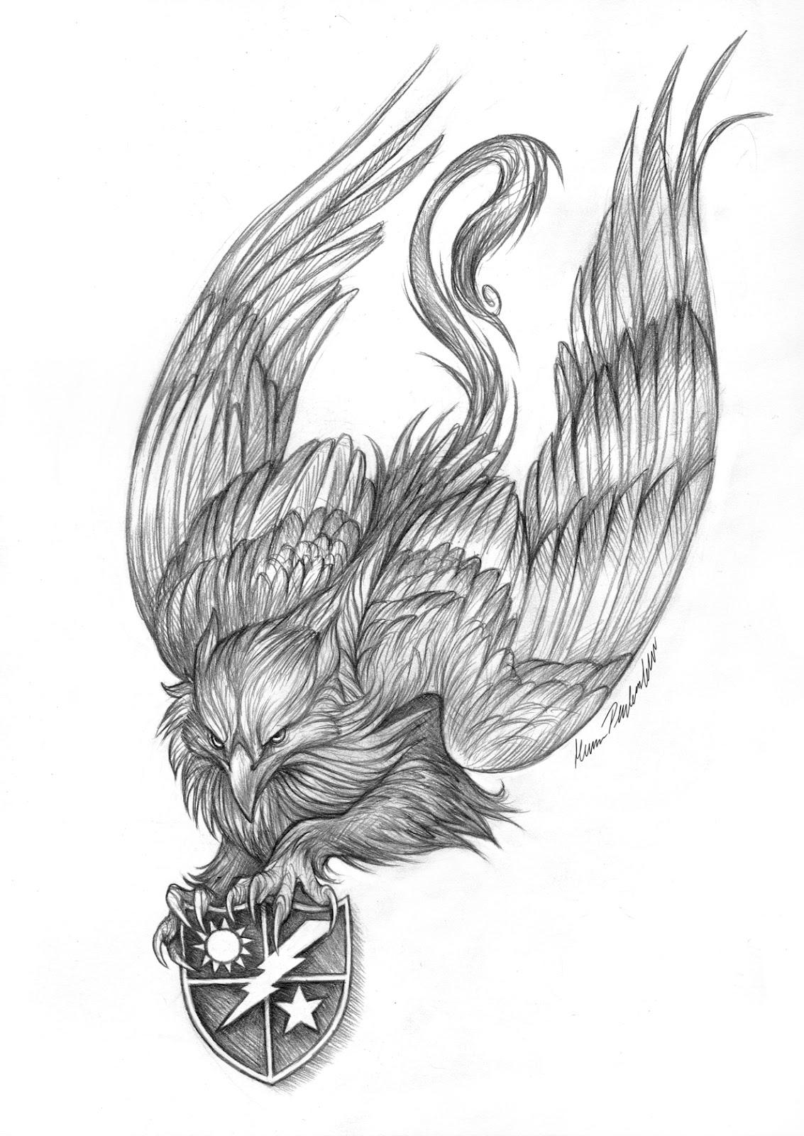 Graphite Dragons: Gryphon Tattoo