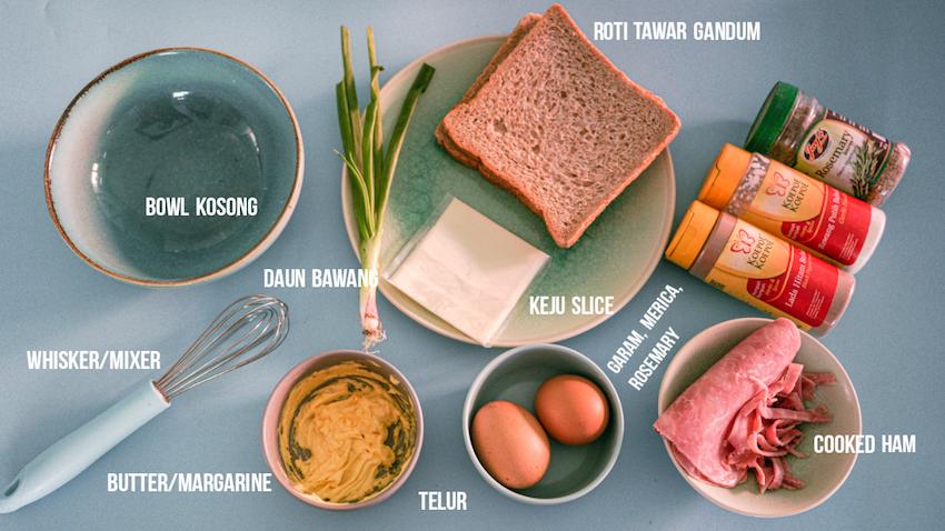 cara dan bahan bahan membuat cloud egg toast