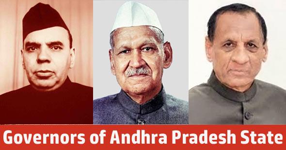 Governors of Andhra Pradesh State