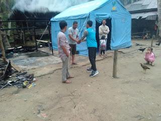 Lembaga Peduli Dhuafa Kunjungi keluarga yang musibah rumah terbakar di Desa Paloh Punti Lhokseumawe
