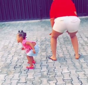 BBNaija: Gifty Teaches Her 1-Year-Old Daughter How To Twerk (Video)