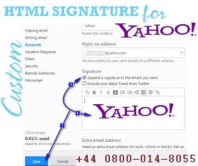 Yahoo Mail Signature
