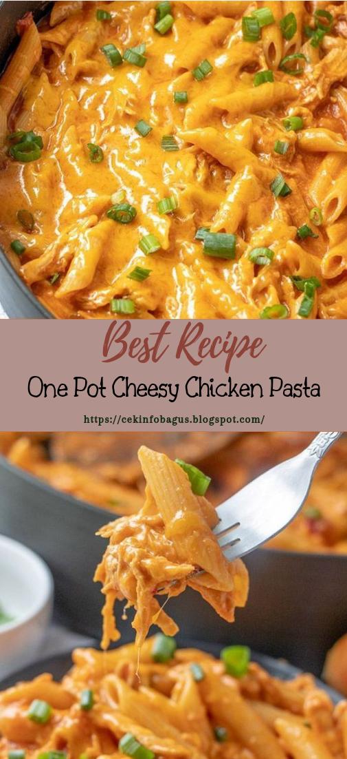 One Pot Cheesy Chicken Pasta #dinnerrecipe #food #amazingrecipe