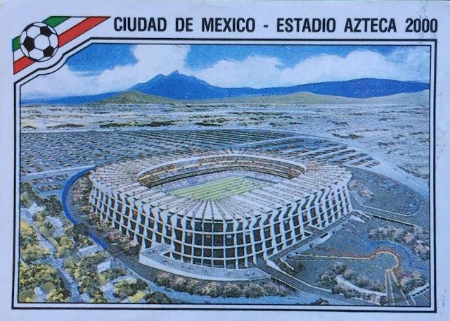 figurina stadio azteca messico 86