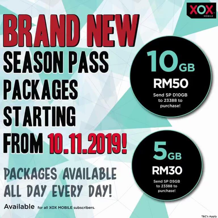 Pakej terbaru Season Pass ONEXOX
