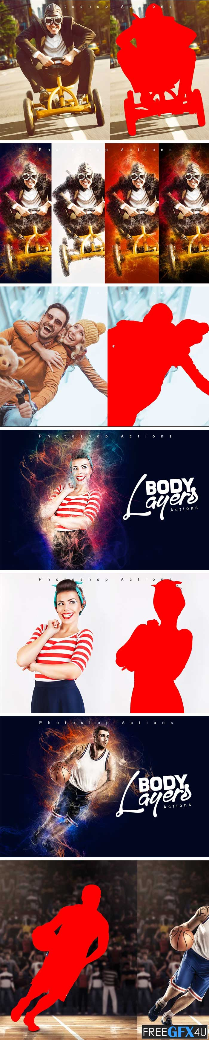 CreativeMarket - Body Layers Photoshop Actions