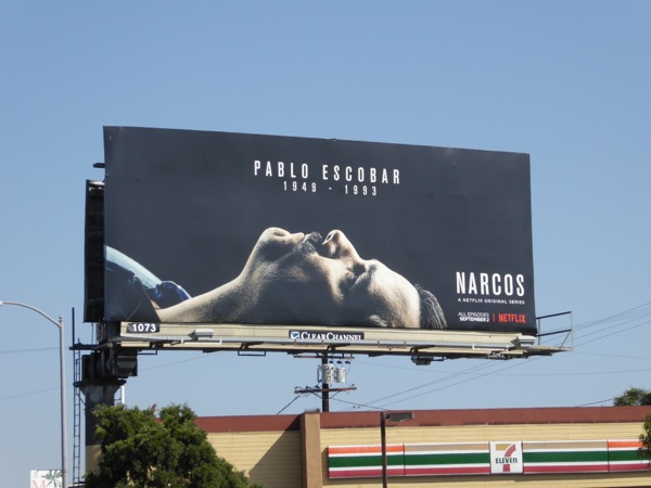 Pablo Escobar 1949 - 1993 Narcos season 2 billboard