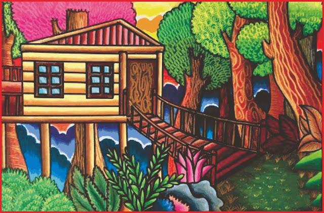 gambar-pemandangan-rumah-di-desa