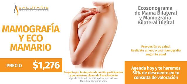 Paquete Mamografia y Eco Mamario Guadalajara Mexico