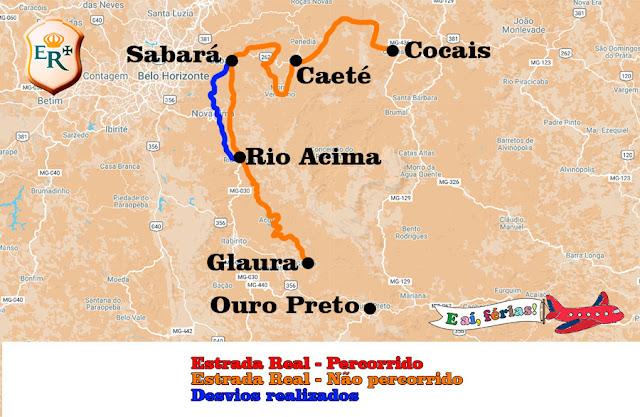 Caminho Sabarabuçu, Estrada Real,