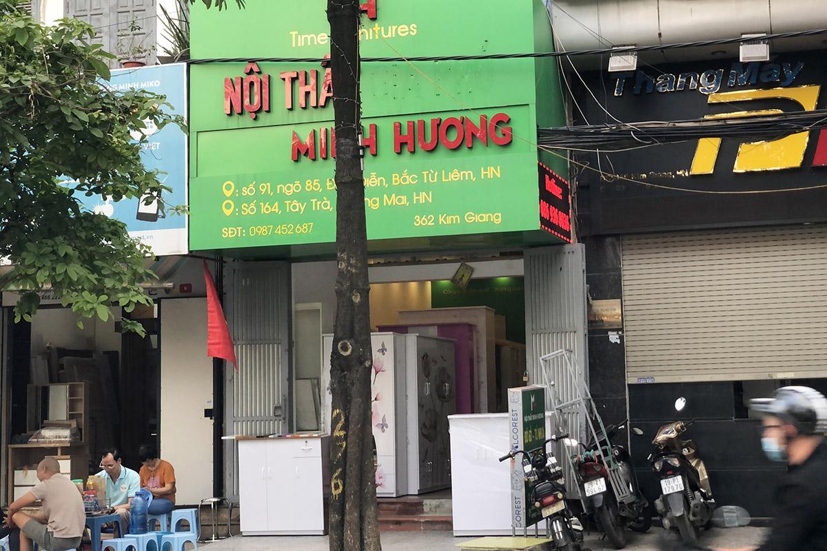 Cửa hàng nội thất Minh Hương bán tủ nhựa tại 362 Kim Giang