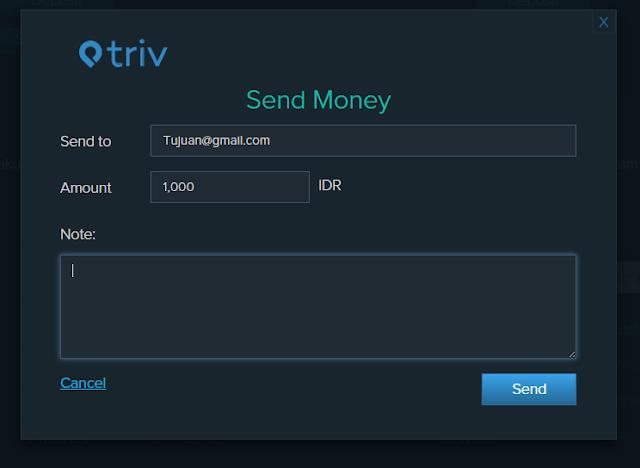 Cara Mengirim Uang dengan Triv
