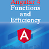 Angular 4 Functions and Efficiency