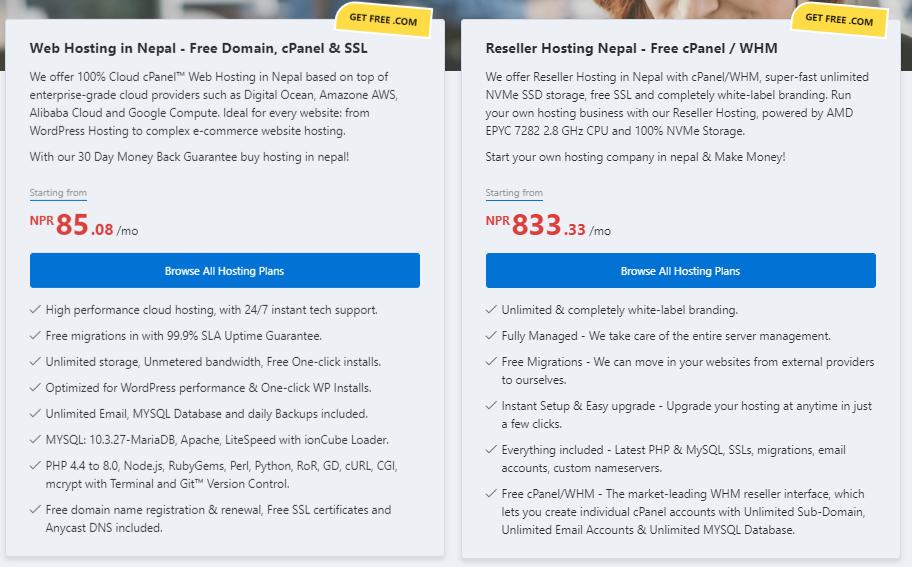 web hosting in nepal