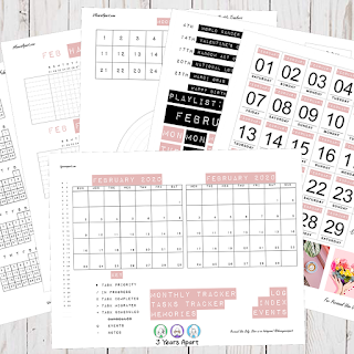 February 2020 Bullet Journal / Planner Free Printable Stickers!